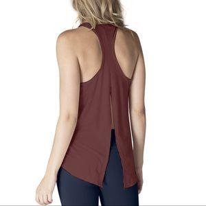 Beyond Yoga Draw the Line Split Back Tie Tank Top
